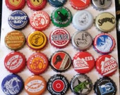 40 craft and import beer bottle caps