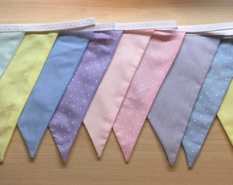 Pretty Pastels Handcrafted Bunting