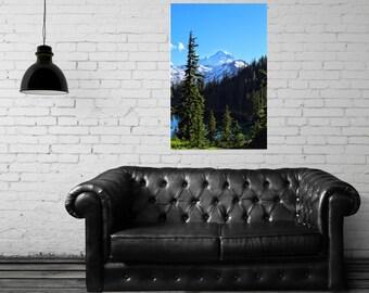 Canvas Gallery Wrap - Mt. Baker Wilderness - Chain Lakes Trail - Scenic Landscape - Mt. Baker, WA - Fine Art Photography