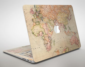 Macbook pro 15 decal etsy the eastern world map apple macbook air or pro skin decal kit all versions gumiabroncs Image collections