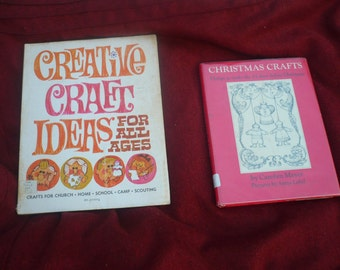 "Vintage 1960's Craft Books: ""Creative Craft Ideas for all Ages"" and ""Christmas Crafts"""