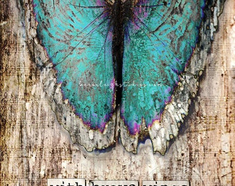 Brave Wings Butterfly Mixed Media Print