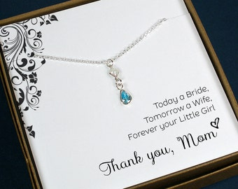 Mother of the Bride Gift, From Daughter, Wedding Gift for Mom, From Bride, Mother of Bride Jewelry, Mother of Groom Gift, From Son, Groom