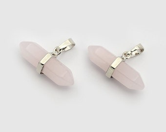 Natural Rose Quartz Love Pendant (2 Pack)