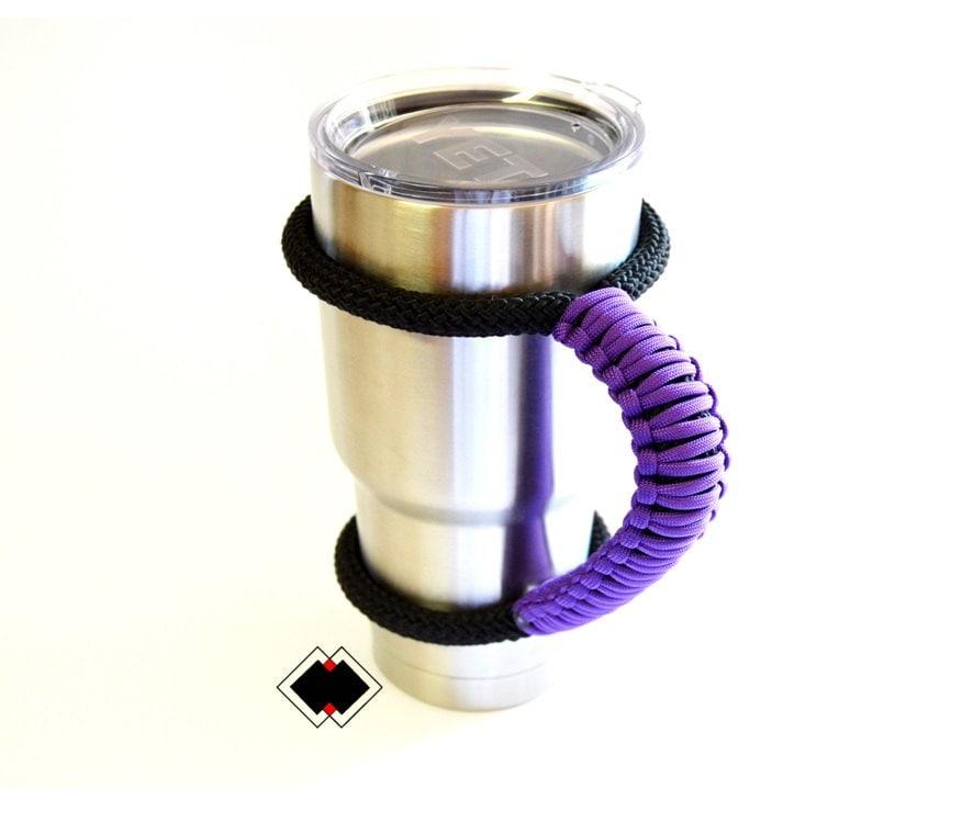 Yeti tumbler handle - purple - custom handmade USA