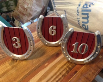 Horseshoe Table Numbers