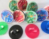 12 PJ Masks Plastic cupcake RINGS party favors PINATA filler. treat for loot bags