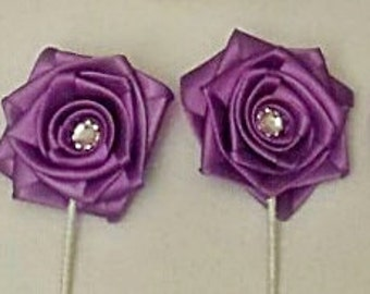 4 pc. Boutonniere package -  - Customize to your colors
