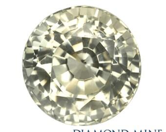 1.5 Carat Yellow Sapphire, Round cut Sapphire, Loose Sapphire Gemstone, Yellow Gemstone, Non Heated Real Sapphire