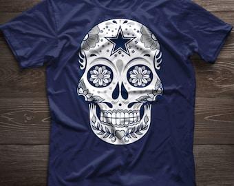 Sugar Skull Shirt, Skeleton face , Day of the Dead, Dia de los Muertos