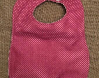 Waterproof Pink Polka Dot Bib