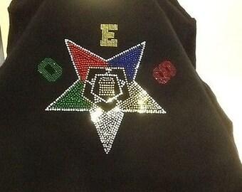 Order of Eastern Star Rhinestone Tshirt