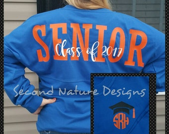 Long Sleeve High School Senior 2017 Jersey Shirt / College Senior 2017 Shirt