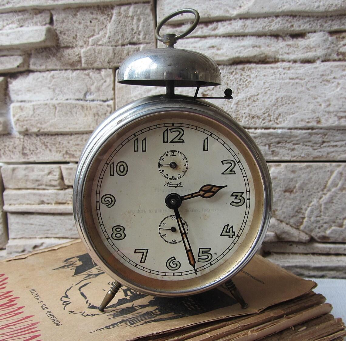 German vintage alarm clock KienzleWorking Antique German