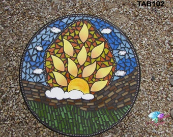 Mosaic Table top or Wall hanging for your Patio table or in your home for a table TAB102