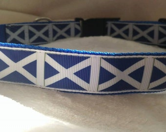 Handmade Blue Dog Collar-Matching Lead available (Scotland)