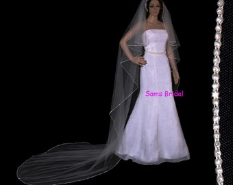20% discount Bridal wedding cathedral cascading veil