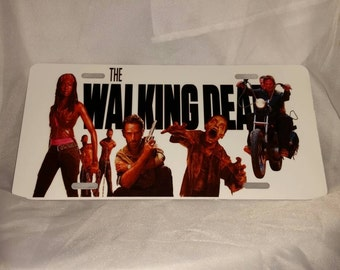 The Walking Dead License Plate