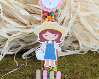 Farm Girl Candy Tube, Farm girl party favors, Barnyard party favors, Barnyard Candy tube, farm candy tube, barnyard birthday party-SET OF 12