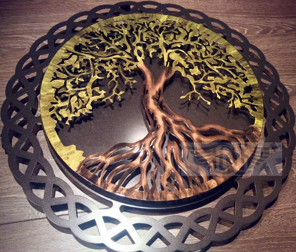 tree of life metal wall art by humdingerdesignsetsy on etsy