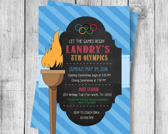 Olympics Party Birthday Invitation - 5x7