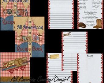 All American Cowboy/Cowgirl - Recipe Album