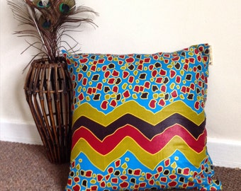 Bold leopard print cushion cover