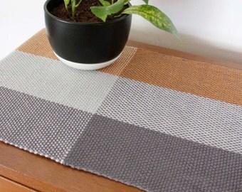 Table Runner, Handwoven Runner, Handmade Table Linens, Table Setting, Dining Table Decor, Spring Table Decor, Weaving