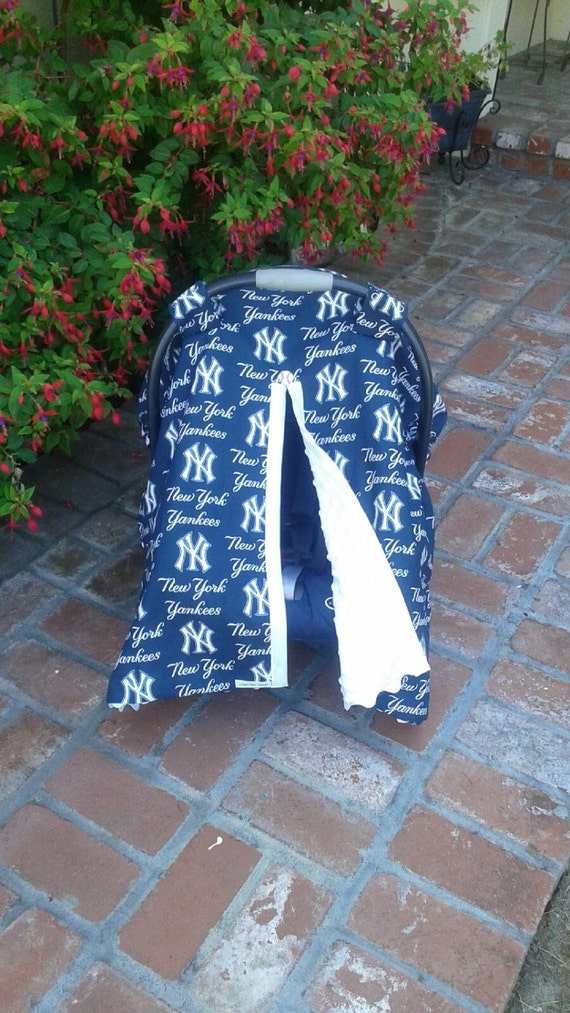 ny yankees car seat canopy cover. Black Bedroom Furniture Sets. Home Design Ideas