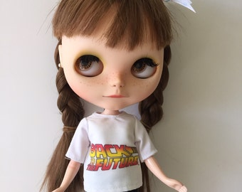 Back  to the Future tshirt for Blythe or Pullip doll