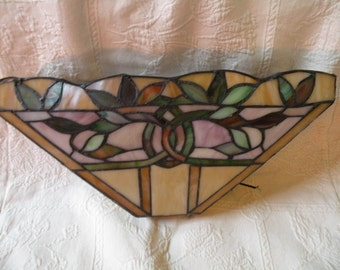 Stained glass sconce Etsy