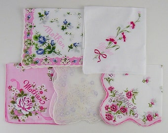 Your Choice of Vintage Handkerchief (s) for Mother  (Inventory Lot #C13)