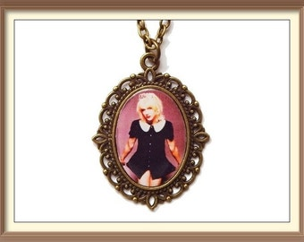 Courtney Love Inspired Cameo Necklaces / Hole / Music / Band / Grunge / 90's Icon