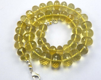 On Sale 20% OFF AAA Quality Lemon Quartz Micro Faceted Roundell 18 inch strand 10 - 16 mm approx