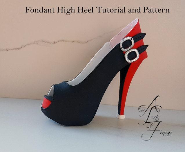 pdf tutorial and pattern fondant high heel sugar shoe
