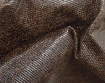 "Fashion Weathered Brown Leather Lamb Hide 12"" x 12"" Pre-cut 1-1 1/2 ounces MI-40645 (Sec. 5,Shelf 4,D)"