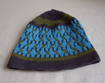 Hat pattern, Knitting hat pattern, size small to xtra large in one pattern.