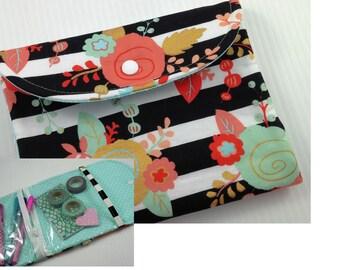 Planner zipper pouch, back to school SALE,  planner band, planner zippered case, Planner accessories, pencil case organizer pouch, aqua