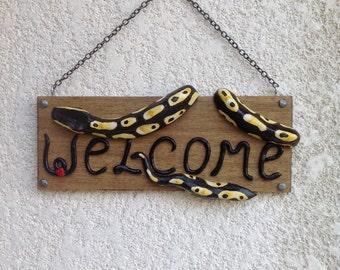 Ball Python welcome sign