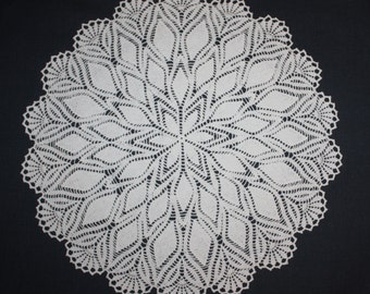 White Large Crochet Doily Lace Doily Table Topper Lace Tablecloth Table Decoration 19 inches