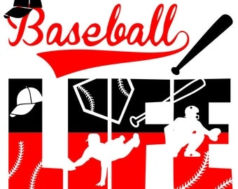 Baseball Life file- svg,png, silhouette