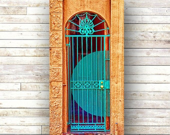 TURQUOISE GATE - New Orleans art - French Quarter Doors - Architecture - Door Photography