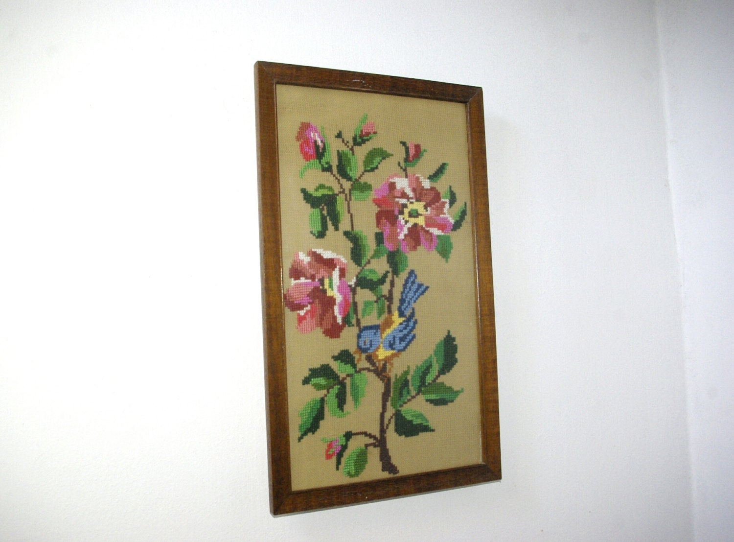 Framed Embroidery Canvas Embroidered Wall Tapestry Cross
