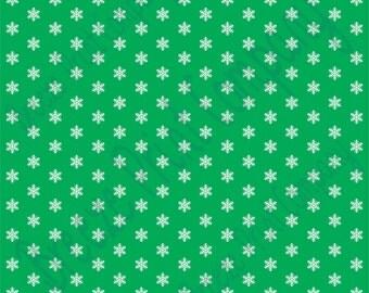 Green snowflake craft  vinyl sheet - HTV or Adhesive Vinyl -  winter pattern HTV1351
