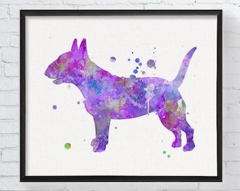 Bull Terrier Prints Reclining Bull Terrier Odalisque - Bull terrier art