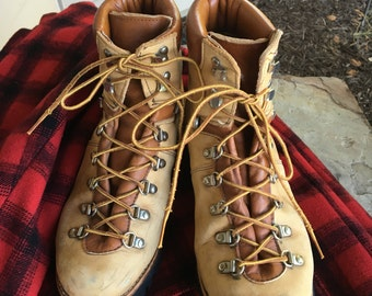 Vintage Suede Leather Hiking Mountaineering Wilderness Outdoor Boots Women's 9B