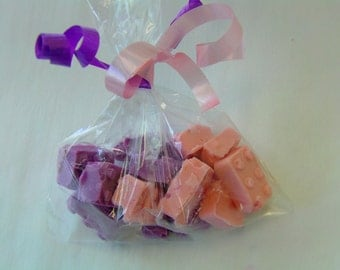 Candy Building Blocks Favor Bags (12)-Perfect For Lego Parties/Cake or Cupcake Toppers!