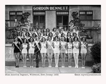 Miss America Pageant 1932, Wildwood, NJ Print