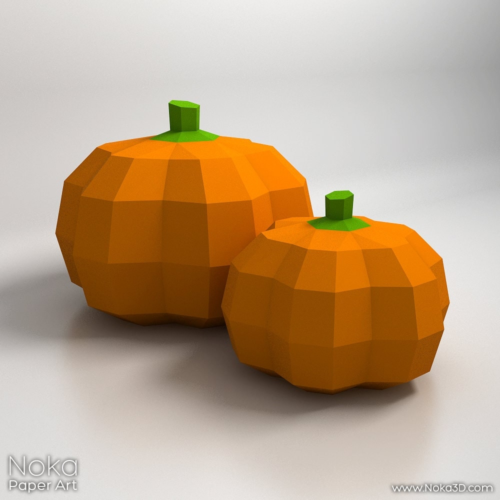 Pumpkin Halloween Decorations 3D papercraft model.