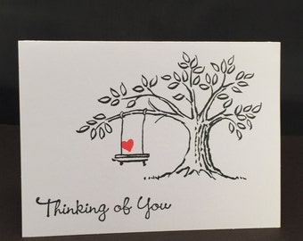 Heart Swing Thinking of You Card